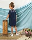 Kleedjes - Blauwe jurk met pailletten Communie