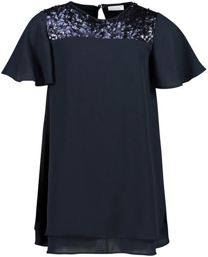 Robe bleue à paillettes Communion