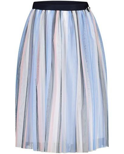 Lichtblauwe rok met strepen Communie