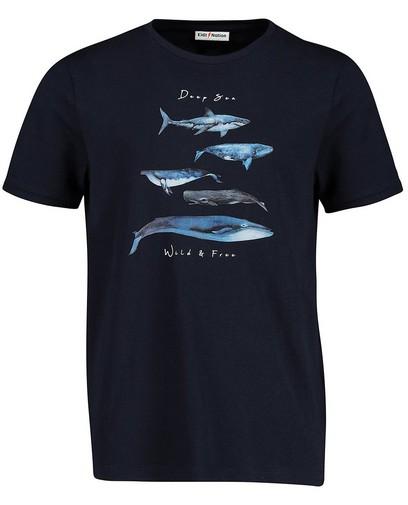 T-shirt bleu à imprimé Communion