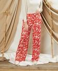 Witte broek met rode print Sora - en wijde pijpen - Sora