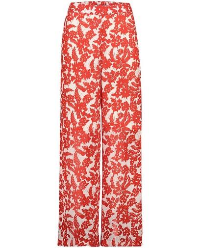 Witte broek met rode print Sora