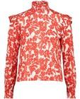 Chemises - Blouse blanche à imprimé rouge Sora