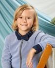 Cardigans - Blauw vest met print Communie