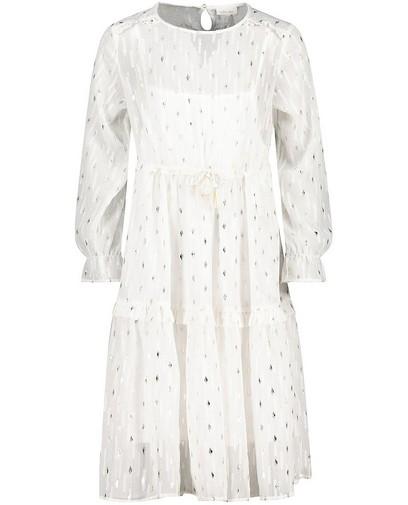 Robe blanche avec fil métallisé Communion