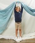Blauwe sweater met pochet Communie - en allover stippenprint - Kidz Nation