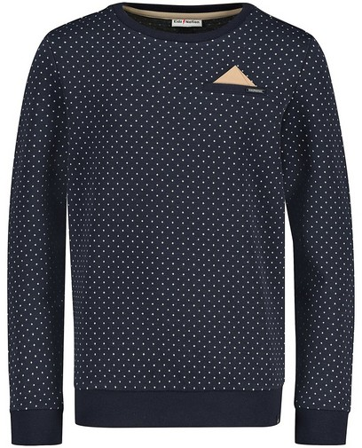 Blauwe sweater met pochet Communie