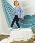 Lichtblauwe blazer Communie - met allover print - Kidz Nation