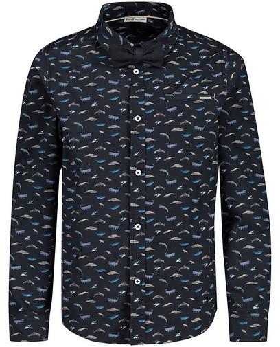Blauw hemd met print Communie