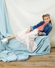 Jeansjas met bloemetjes Communie - in blauw - Milla Star