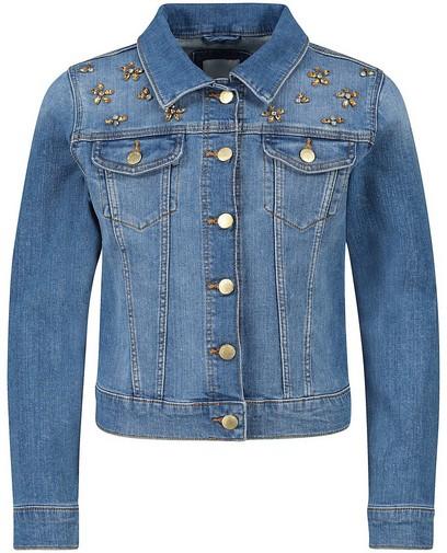 Veste en jeans à petites fleurs Communion