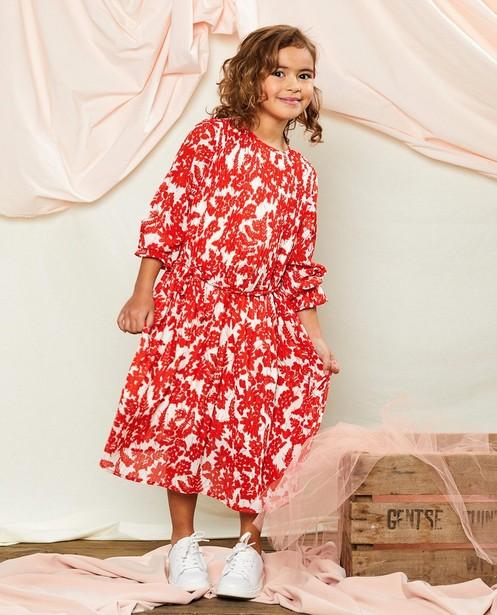Robe à imprimé fleuri Communion - rouge et blanche - Milla Star