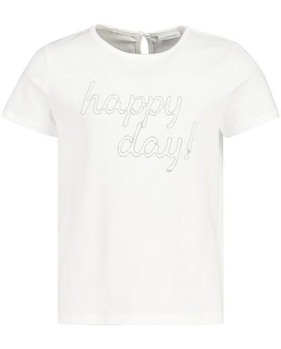 T-shirt blanc à inscription Communion
