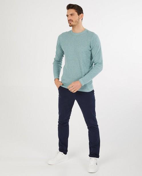 Fin pull vert en coton bio - fin tricot - Quarterback