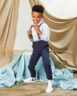 Pantalons - Pantalon bleu à pois Communion