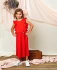 Robe rouge plissée Communion - à volants - Milla Star