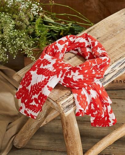 Foulard rouge et blanc à imprimé Sora