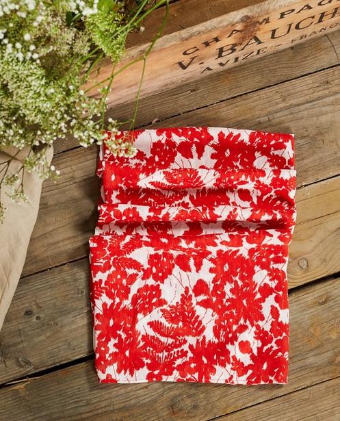 Bonneterie - Foulard rouge et blanc à imprimé Sora