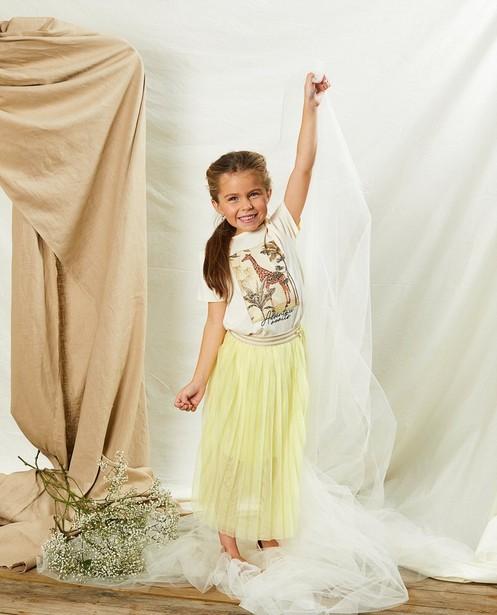 Offwhite T-shirt met print Communie - glitter - Milla Star