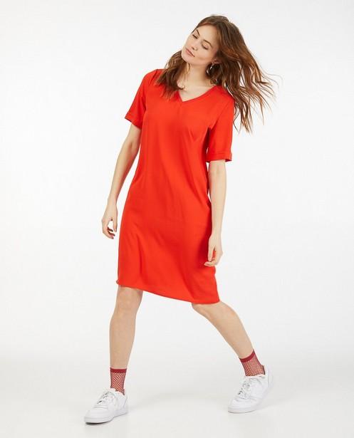 Robe rouge à manches courtes Sora - ceinture à nouer - Sora