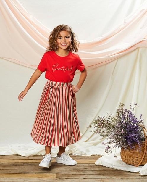 T-shirt rouge en coton bio Communion - à inscription - Milla Star