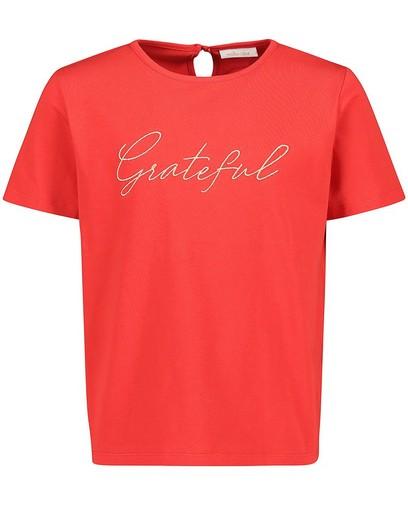 Rood T-shirt van biokatoen Communie