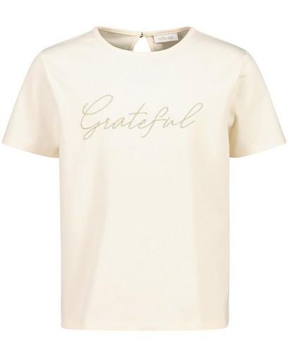 Off-white T-shirt van biokatoen Communie