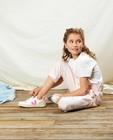 Witte broek met strepen Communie - in roze - Milla Star