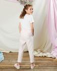 Broeken - Witte broek met strepen Communie