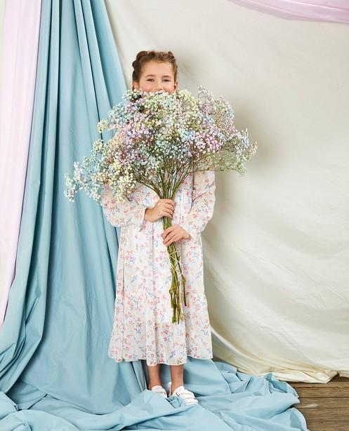 Robe blanche à imprimé Communion - imprimé fleuri intégral - Milla Star