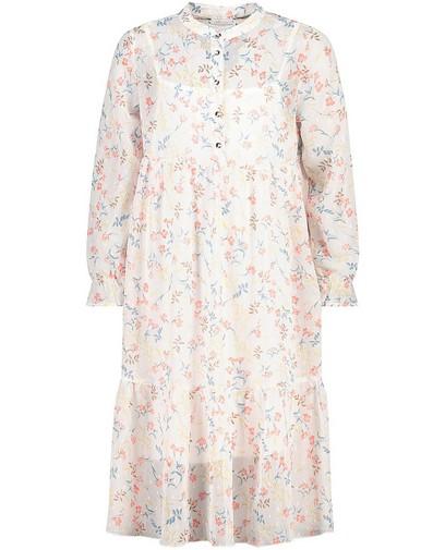 Witte jurk met print Communie