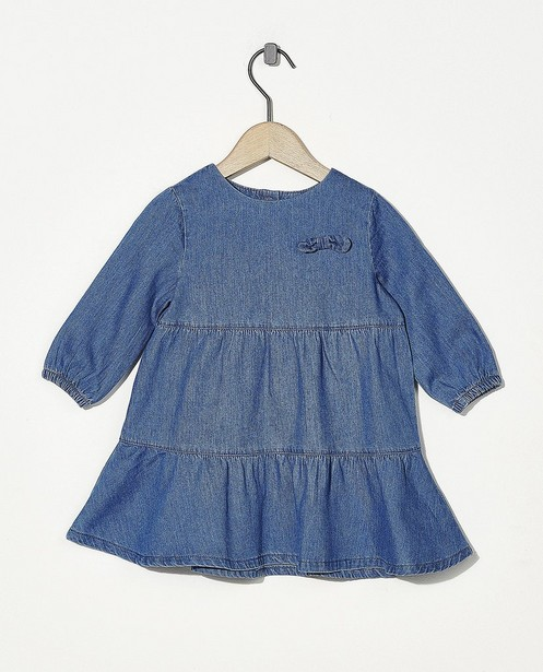 Robe bleue avec un nœud - chambray - Cuddles and Smiles