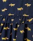 Robes - Robe bleue à imprimé de chiens