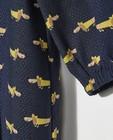 Kleedjes - Blauw jurkje met hondenprint