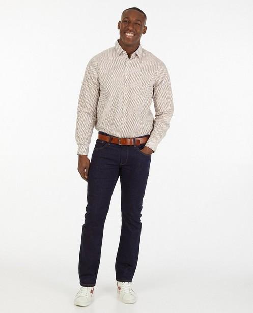 Wit hemd met print - bloemenprint - Iveo