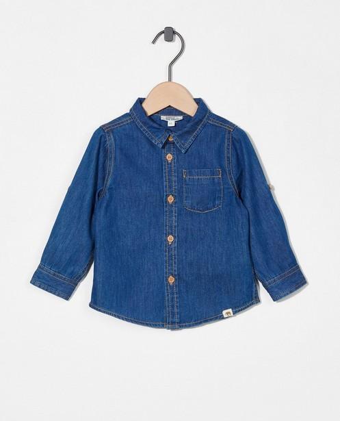 Chemise bleue en denim - à manches enroulables - Cuddles and Smiles