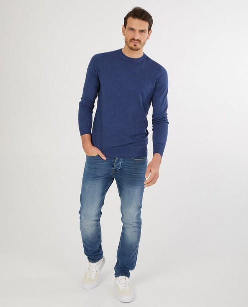Pull bleu - fin tricot - Quarterback