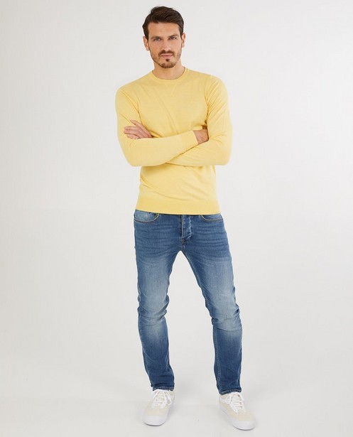 Gele trui - van fijne brei - Quarterback