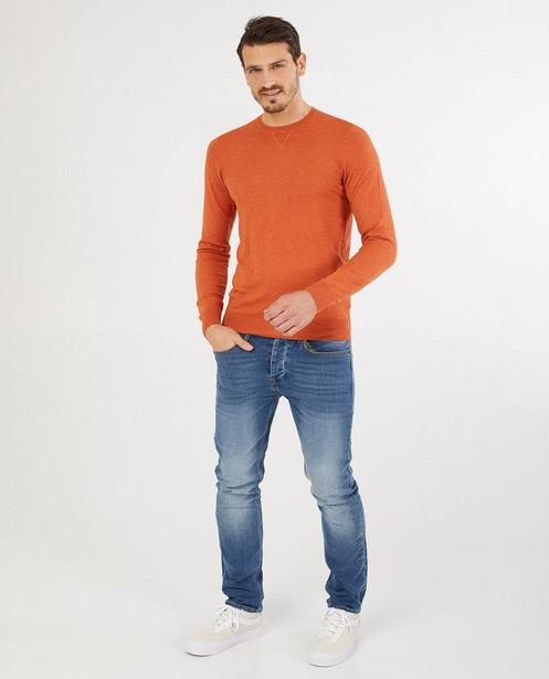 Pull orange - fin tricot - Quarterback