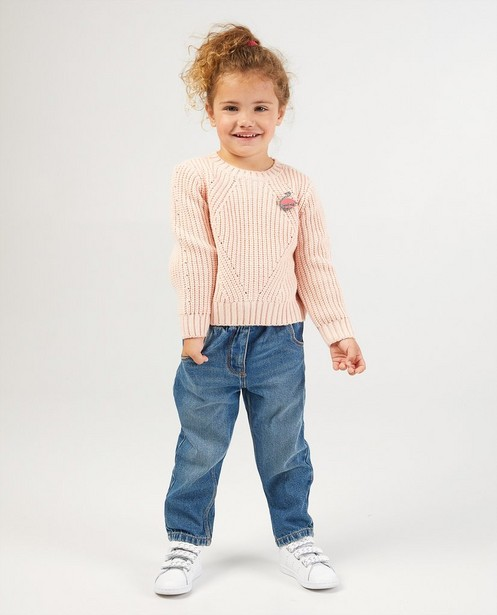 Pull rose clair - en tricot - Milla Star