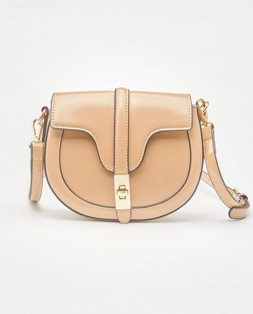 Camelkleurige handtas - effen - JBC