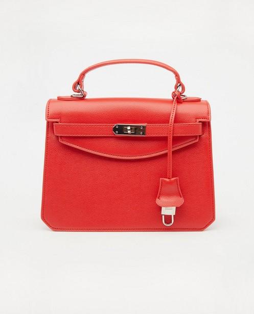 Rode handtas met slotje - boekentasje - JBC