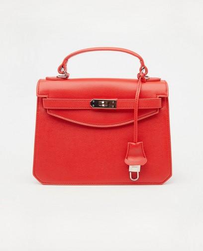Rode handtas met slotje