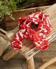 Foulard rouge et blanc à imprimé Communion - imprimé fleuri - JBC