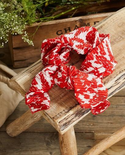 Rood-witte sjaal met print Communie