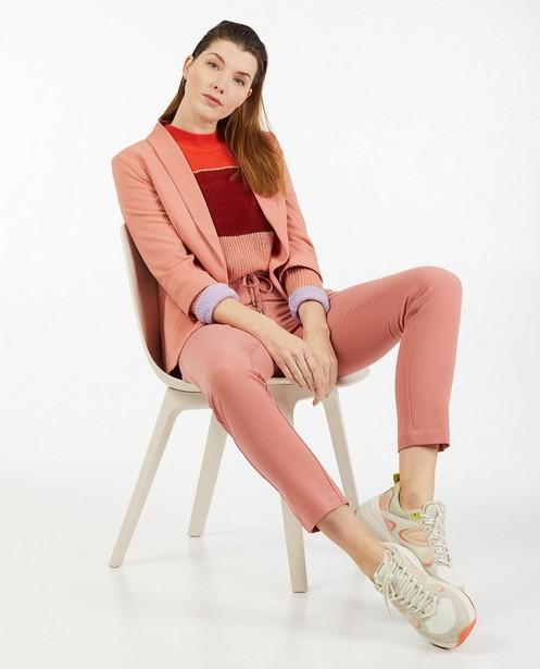 Roze blazer Sora - zonder knoopsluiting - Sora