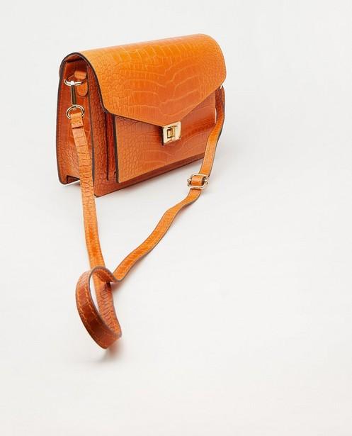 Handtassen - Oranje lederen handtas