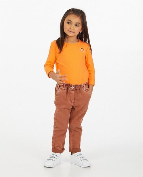 Bruine jeans - met elastische taille - Milla Star