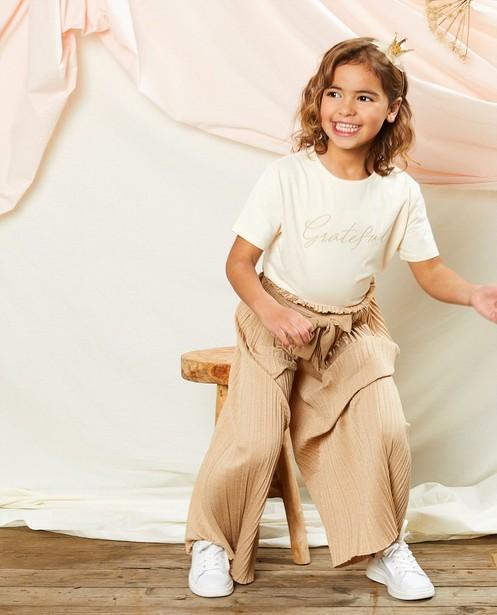 Pantalon beige plissé Communion - imprimé intégral - Milla Star