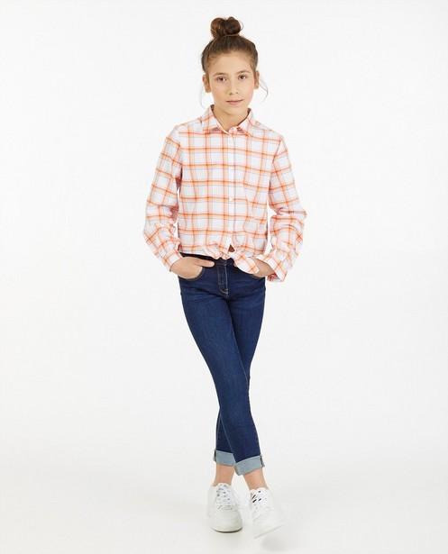 Wit hemd met ruitpatroon BESTies - allover - Besties